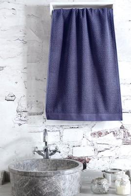 Erkek Giyim - Lacivert STD Beden Jakarlı Saç Havlusu / El Havlusu