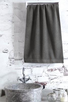 Erkek Giyim - Antrasit STD Beden Jakarlı Saç Havlusu / El Havlusu