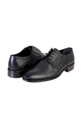 Erkek Giyim - Siyah 43 Beden Bağcıklı Klasik Deri Ayakkabı