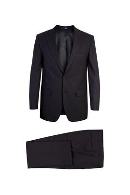 Erkek Giyim - Siyah 48 Beden Ekose Takım Elbise