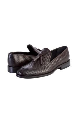 Erkek Giyim - Kahve 42 Beden Püsküllü Deri Klasik Ayakkabı