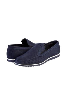 Erkek Giyim - Lacivert 40 Beden Nubuk Loafer Ayakkabı