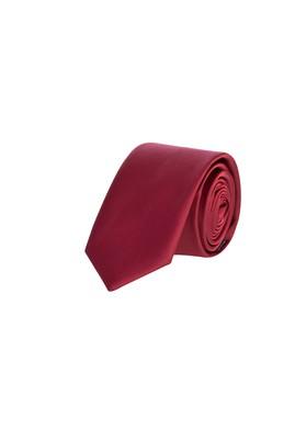 Erkek Giyim - Bordo 50 Beden Düz Saten Kravat