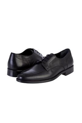 Erkek Giyim - Siyah 42 Beden Bağcıklı Klasik Deri Ayakkabı