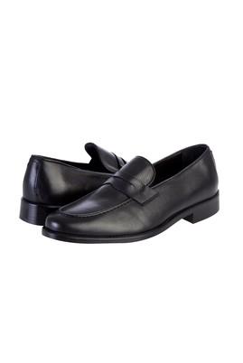 Erkek Giyim - Siyah 42 Beden Casual Deri Ayakkabı