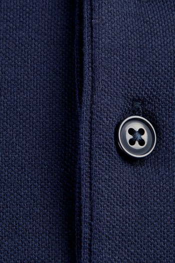 Erkek Giyim - Polo Yaka Desenli Slim Fit Tişört