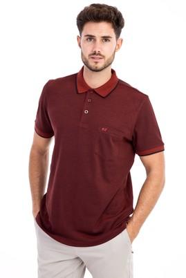 Erkek Giyim - KİREMİT M Beden Polo Yaka Regular Fit Tişört