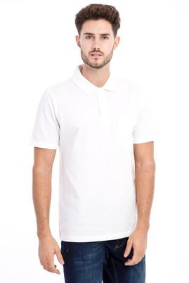 Erkek Giyim - Beyaz 3X Beden Polo Yaka Klasik Tişört