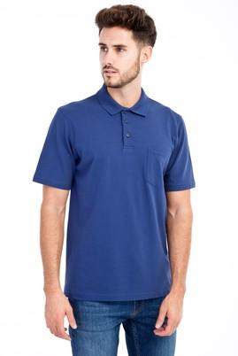 Erkek Giyim - Mavi S Beden Polo Yaka Klasik Tişört