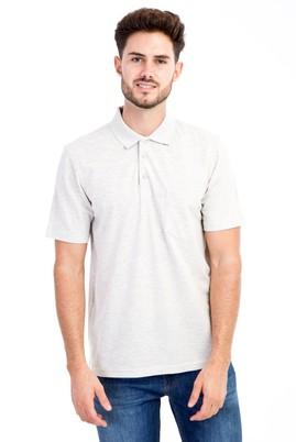 Erkek Giyim - Orta füme S Beden Polo Yaka Klasik Tişört