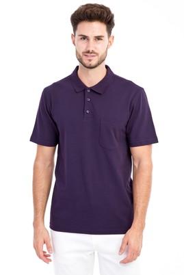 Erkek Giyim - Bordo M Beden Polo Yaka Klasik Tişört