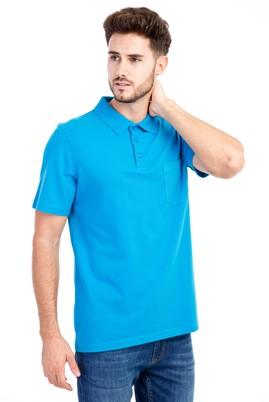 Erkek Giyim - Turkuaz 3X Beden Polo Yaka Klasik Tişört