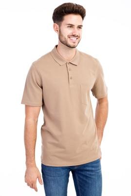 Erkek Giyim - VİZON 3X Beden Polo Yaka Klasik Tişört