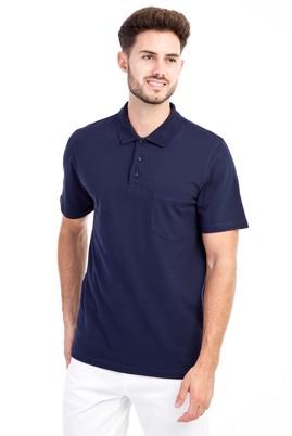 Erkek Giyim - Lacivert S Beden Polo Yaka Klasik Tişört