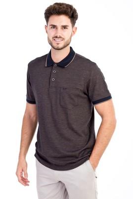Erkek Giyim - Kahve M Beden Polo Yaka Regular Fit Tişört