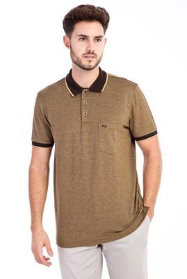 Erkek Giyim - Sarı L Beden Polo Yaka Regular Fit Tişört