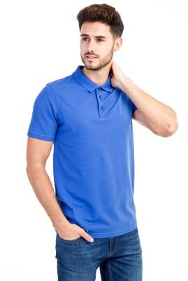 Erkek Giyim - Mavi 3X Beden Polo Yaka Slim Fit Tişört
