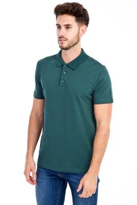 Erkek Giyim - KOYU YESİL 3X Beden Polo Yaka Slim Fit Tişört