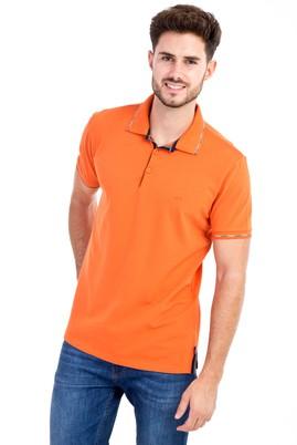 Erkek Giyim - Turuncu L Beden Polo Yaka Regular Fit Tişört