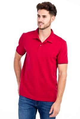 Erkek Giyim - Kırmızı 3X Beden Polo Yaka Regular Fit Tişört