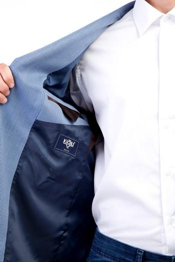 Erkek Giyim - Slim Fit Klasik Kuşgözü Ceket