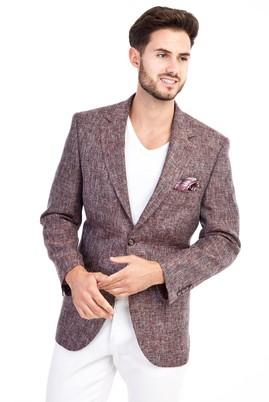 Erkek Giyim - Bordo 50 Beden Kuşgözü Ceket
