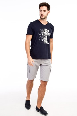 Erkek Giyim - Orta füme 52 Beden Spor Bermuda Şort