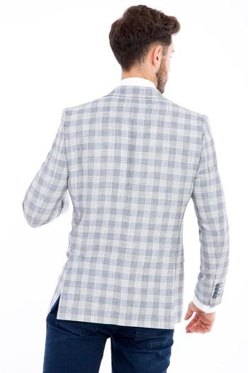 Erkek Giyim - Regular Fit Ekose Ceket