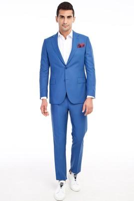 Erkek Giyim - Mavi 52 Beden Klasik Takım Elbise