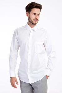 Erkek Giyim - Uzun Kol Non Iron Klasik Saten Gömlek