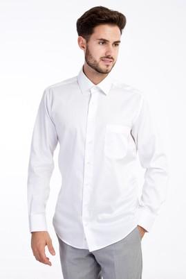 Erkek Giyim - BEYAZ 4X Beden Uzun Kol Non Iron Saten Klasik Gömlek