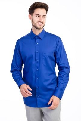 Erkek Giyim - Mavi M Beden Uzun Kol Non Iron Saten Klasik Gömlek