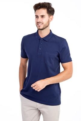 Erkek Giyim - Lacivert 3X Beden Polo Yaka Regular Fit Tişört