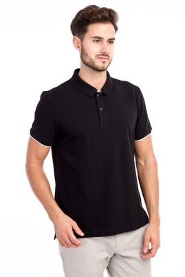 Erkek Giyim - Siyah M Beden Polo Yaka Regular Fit Tişört