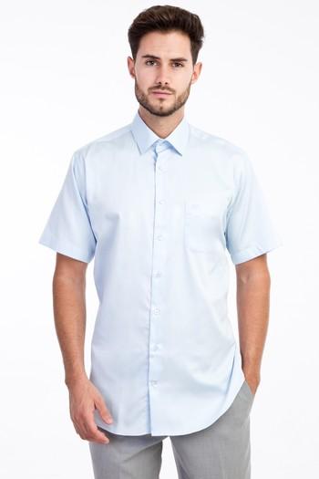 Erkek Giyim - Kısa Kol Saten Gömlek