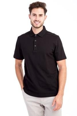 Erkek Giyim - Siyah XL Beden Polo Yaka Regular Fit Tişört