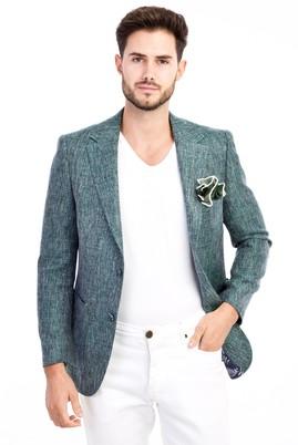 Erkek Giyim - KOYU YESİL 56 Beden Kuşgözü Ceket
