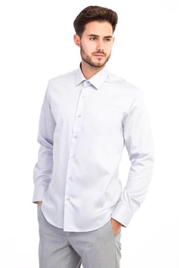 Erkek Giyim - Uzun Kol Slim Fit Non Iron Saten Gömlek