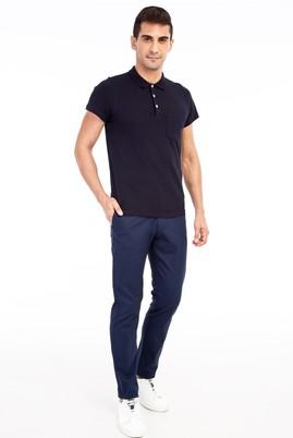 Erkek Giyim - KOYU MAVİ 46 Beden Slim Fit Spor Pantolon