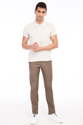 Erkek Giyim - VİZON 48 Beden Slim Fit Spor Pantolon