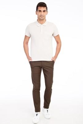 Erkek Giyim - HAKİ 48 Beden Slim Fit Desenli Spor Pantolon