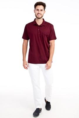 Erkek Giyim - Beyaz 58 Beden Kuşgözü Pantolon