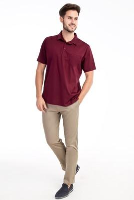 Erkek Giyim - Bej 50 Beden Slim Fit Saten Spor Pantolon