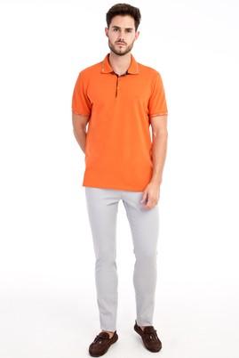 Erkek Giyim - Açık Gri 52 Beden Slim Fit Desenli Spor Pantolon