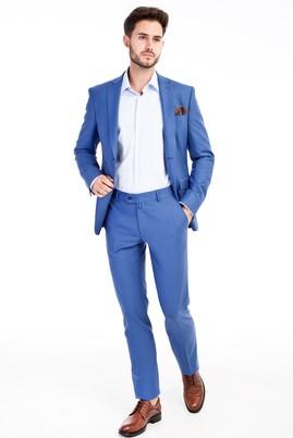 Erkek Giyim - Turkuaz 48 Beden Slim Fit Takım Elbise