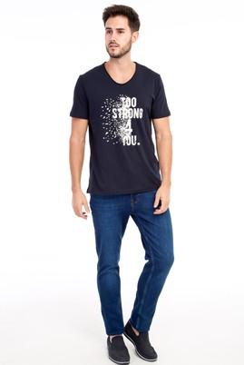 Erkek Giyim - Mavi 50 Beden Denim Pantolon