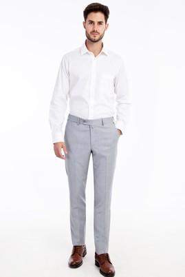 Erkek Giyim - Açık Mavi 48 Beden Slim Fit Klasik Pantolon