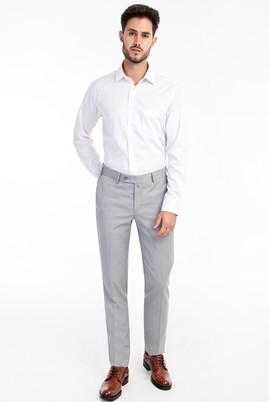 Erkek Giyim - Açık Gri 50 Beden Slim Fit Klasik Pantolon
