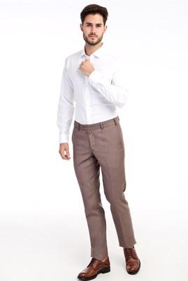 Erkek Giyim - VİZON 48 Beden Slim Fit Klasik Pantolon