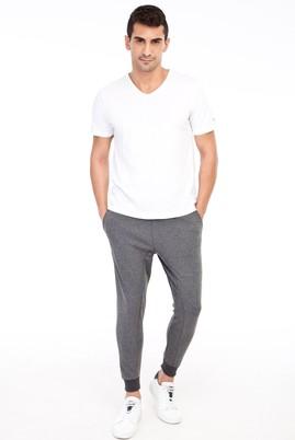 Erkek Giyim - Antrasit S Beden Slim Fit Jogger Pantolon / Eşofman